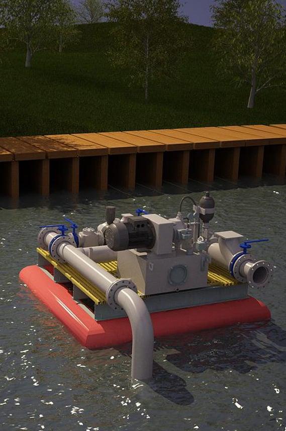 Плавучие насосные станции